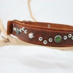 Spike Brown Leather Dog Collar Custom Cerberus Designs