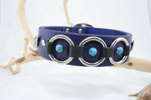 Sea Pool Neptune Leather Dog Collar Cerberus Designs